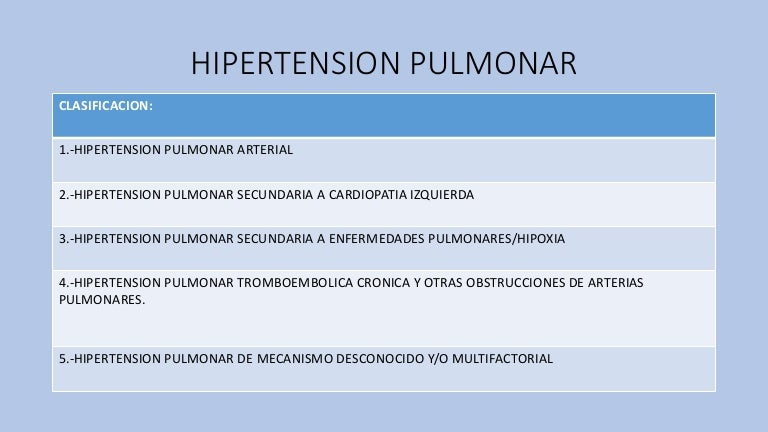 Hipertension pulmonar mia
