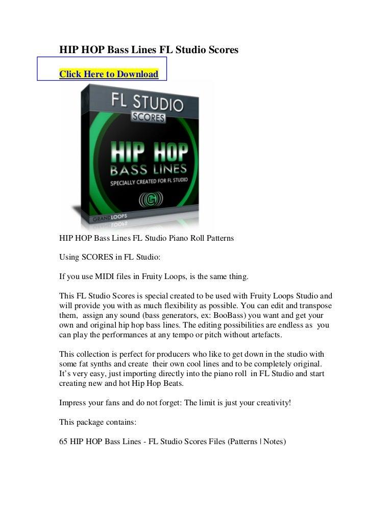 Hip hop bass lines fl studio scores