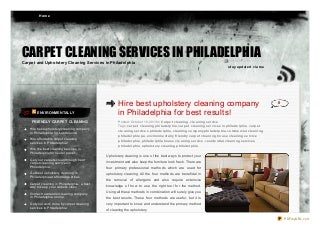 Carpet and upholstery cleaning tips
