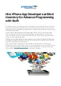 Hire iphone app developer india