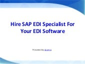 Hire SAP EDI Specialist For Your EDI Software