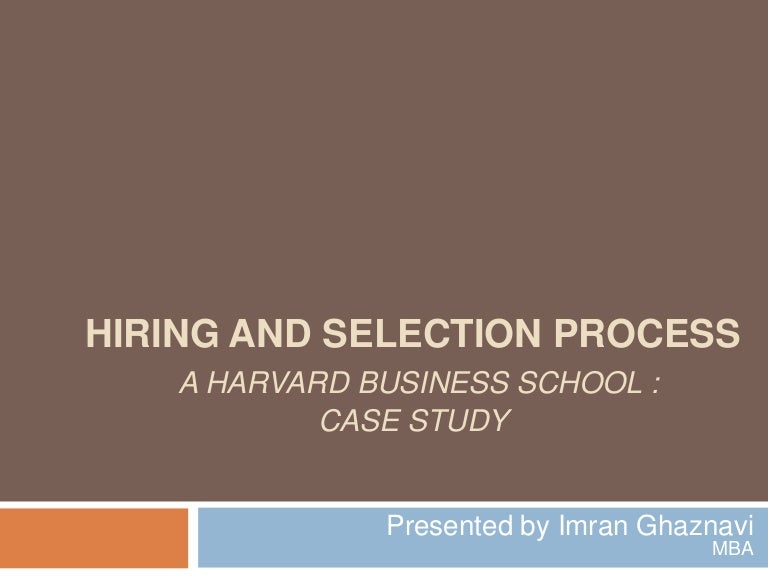 Case study recruitment and selection in wipro