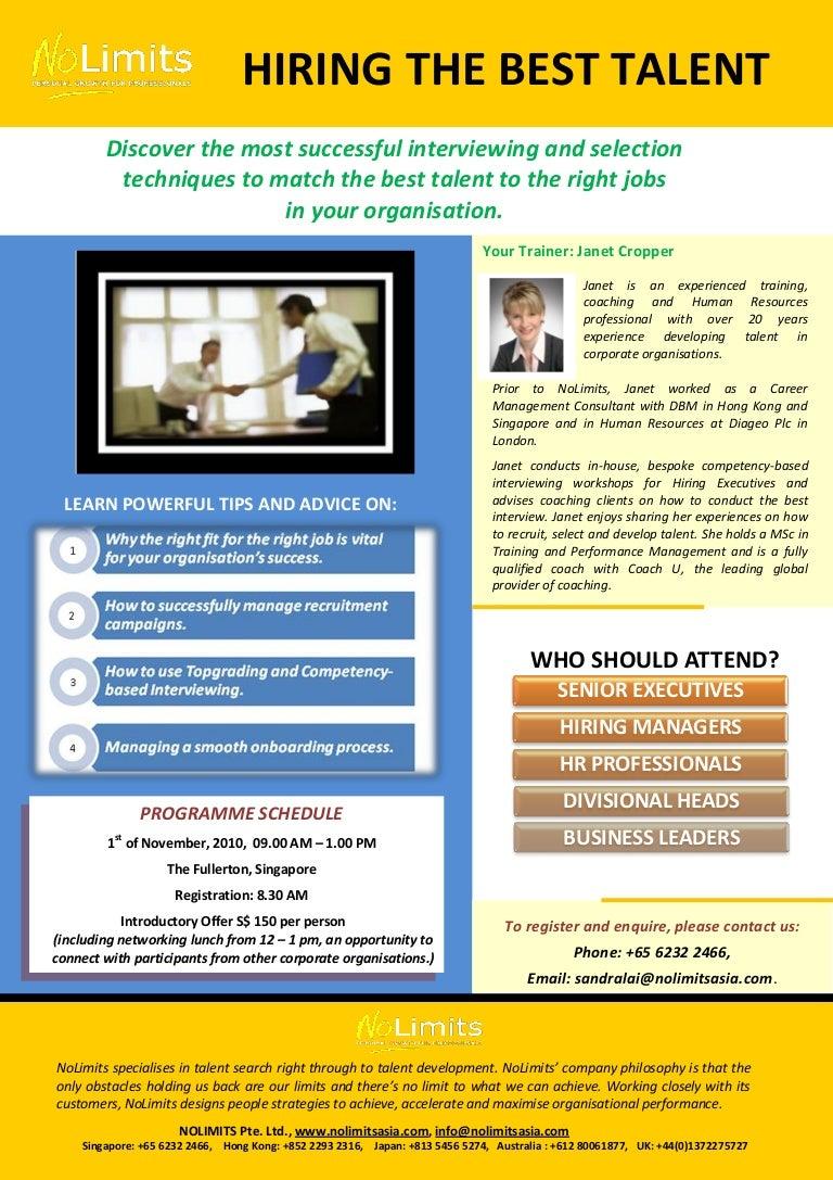 hiring the best talent brochure