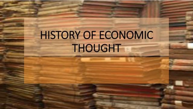 Economists (pt. 1)