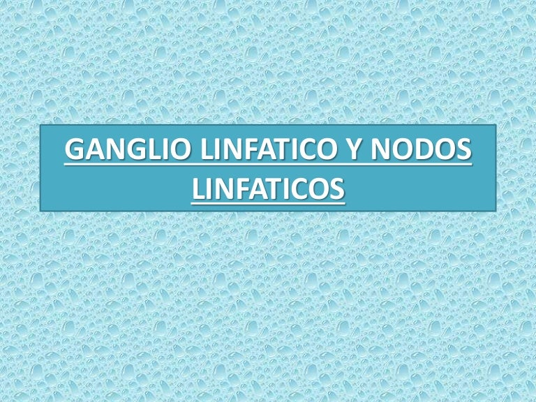 GANGLIO Y NODOS LINFÁTICOS (MEDICINA VETERINARIA