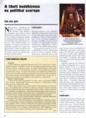 Szilágyi Zsolt: A tibeti buddhizmus és politikai szerepe