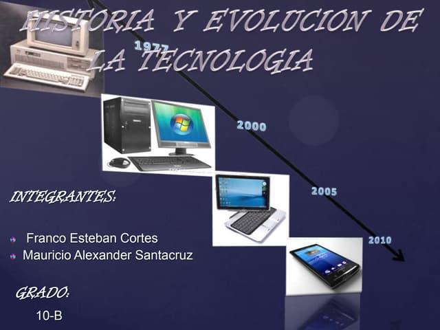 Historia y evolucion de la tecnología
