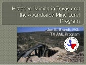 Historical Mining in Texas and the Abandoned Mine Land Program