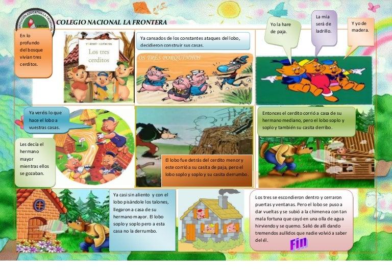 Historieta los tres cochinitos- Crisantina Traslaviña