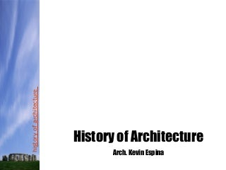History of arch.