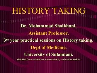 History Taking.