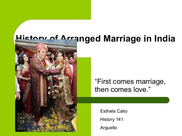 a study of arranged marriages Arranged marriage arranged marriage is the type of marriage where parents pick your future husband or wife for you it is a complicated matter according to asian and middle eastern countries like india, japan, iraq, iran and many other counties.