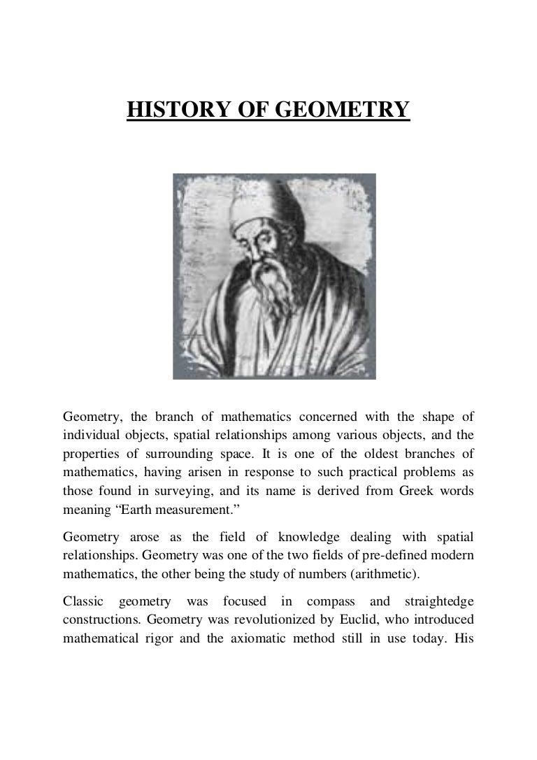 History of the development of geometry