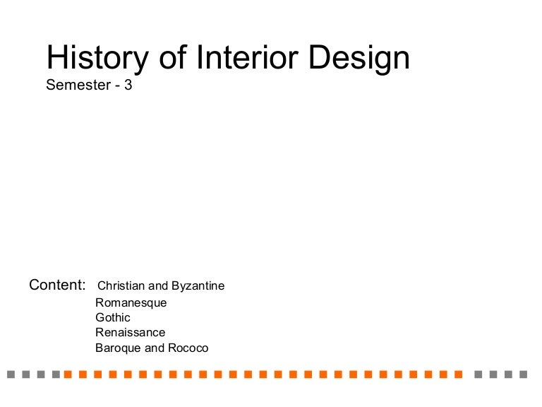 History Of Interior Design 3