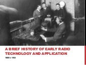 History of Early Radio Technology