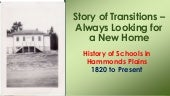 History of Schools in Hammonds Plains