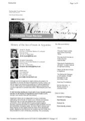 History of the Law of Trusts in Argentina - Rothschild - Winter 2010 - Issue 22