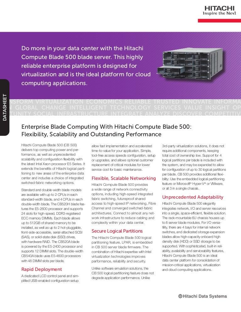 b05425df35 Enterprise Blade Computing With Hitachi Compute Blade 500  Flexibilit…