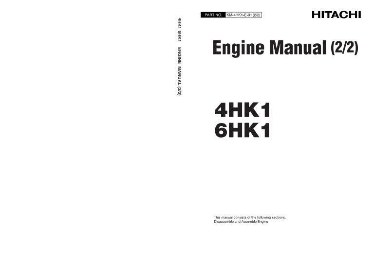 Hitachi 6 hk1 engine service repair manual