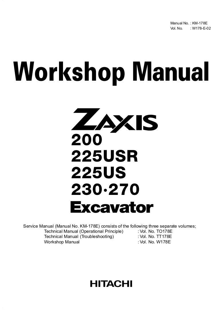 Hitachi zaxis 280 lc excavator service repair manual