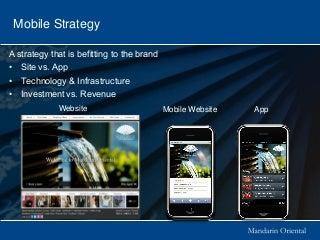 Travel industry and mobile technology - Chris Oberli of Mandarin Oriental HITEC 2011
