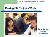 Making KM projects work