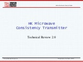 TECO HK Series Microwave Consistency Transmitter Technical Review