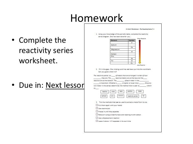 Collection of Activity Series Worksheet Sharebrowse – Activity Series Worksheet