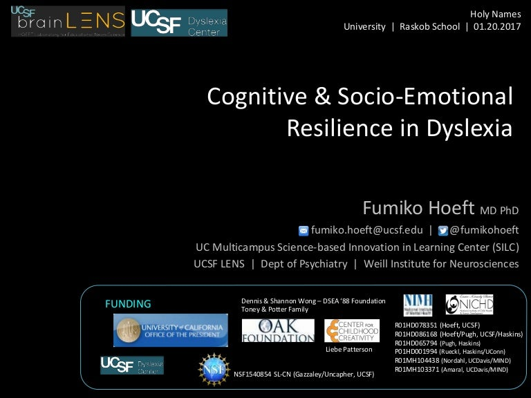 Resilient Dyslexics Have More Gray >> Cognitive And Socio Emotional Resilience In Dyslexia