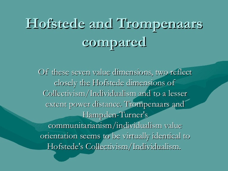 cultural profile hofstedes 5 dimensions essay Cultural dimensions in international engineering sunday, april 8, 2007 trompenaars compared hofstede  view my complete profile.