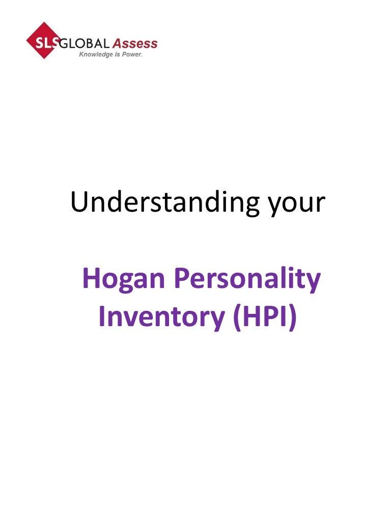 Hogan Personality Inventory (HPI) Report