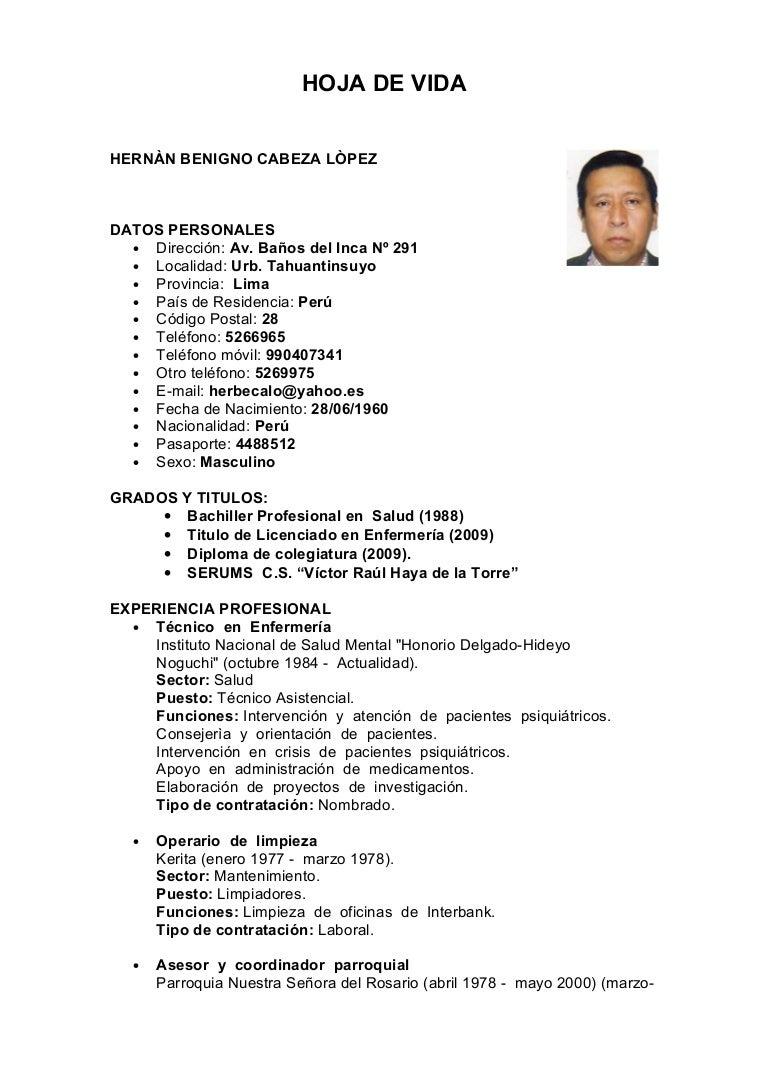 Lujo Ejemplos De Curriculum Vitae De Enfermera Ideas - Ejemplo De ...