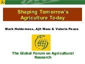 Shaping Tomorrow's Agriculture Today