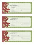 Holiday Gift Certificate (Poinsettia Design)