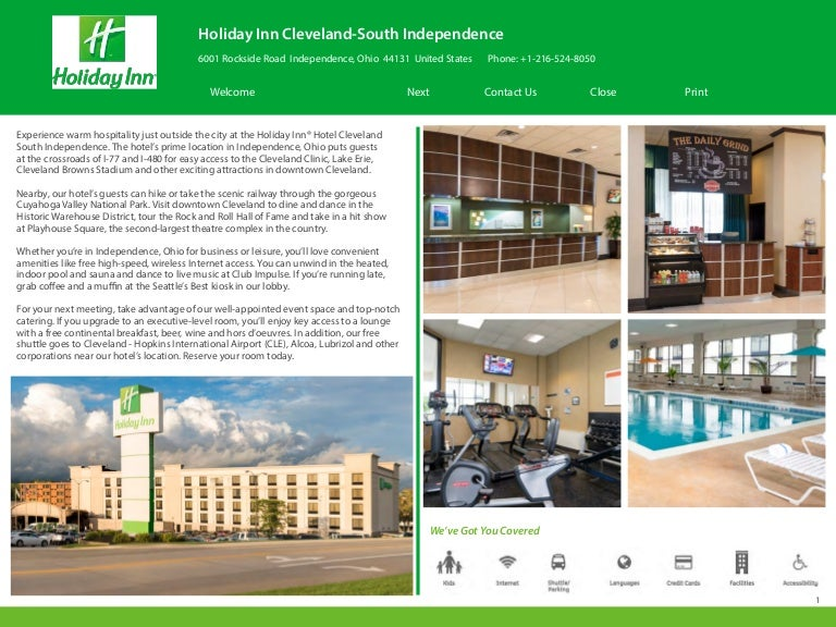 Holiday Inn Cleveland S  Independence Oh Ebrochure