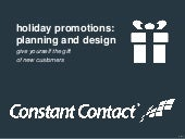 Holiday promotions planning & design for 2013 final