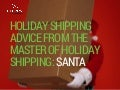 Holiday Shipping Advice