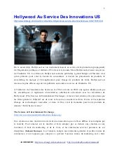 Hollywood Au Service Des Innovations US