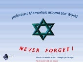 Holocaust memorials from around the world