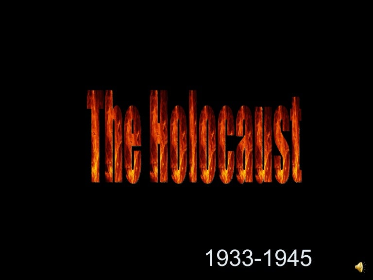 Holocaust overview ppt