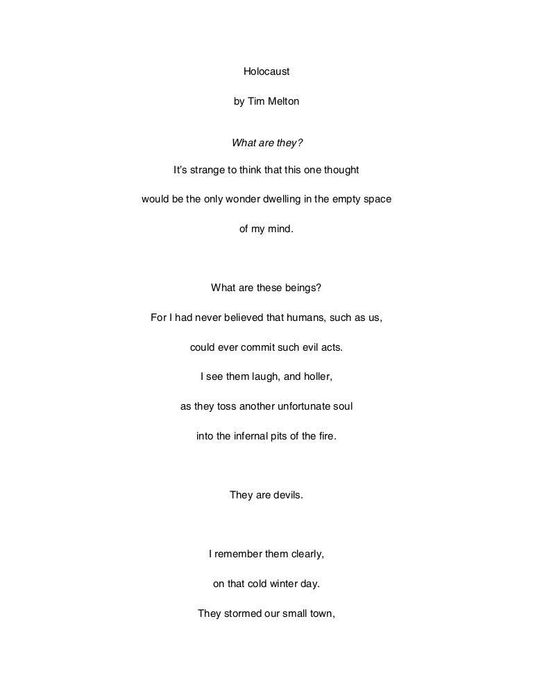 Holocaust poem(2)