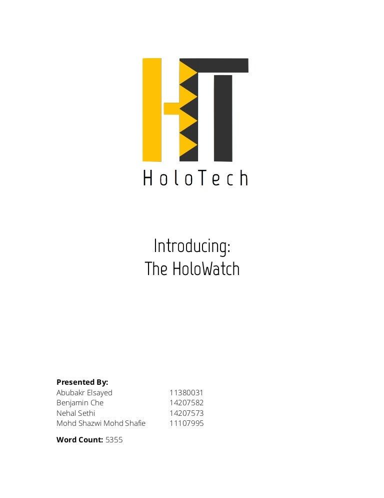 HoloTech: HoloWatch Digital Marketing Plan