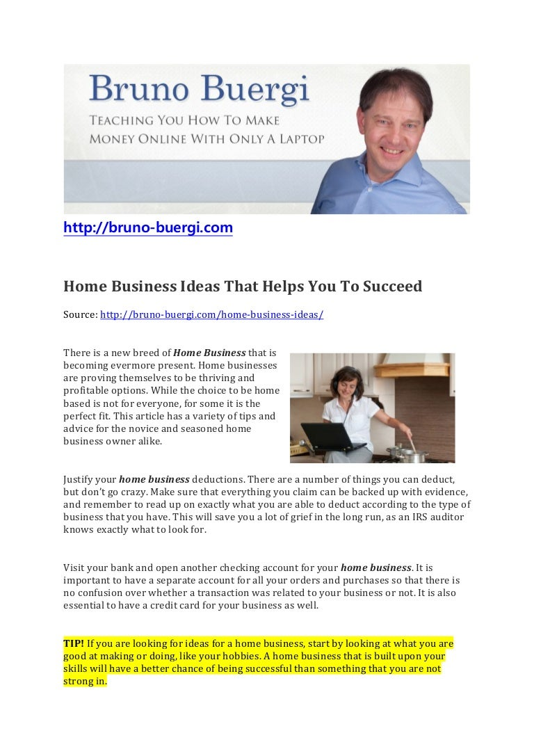 Home Business Ideas To Your Success