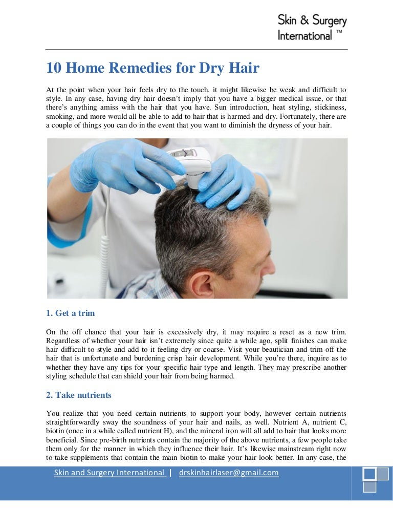 10 Home Remedy For Dry Hair
