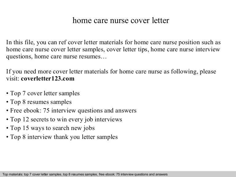 Home care nurse cover letter