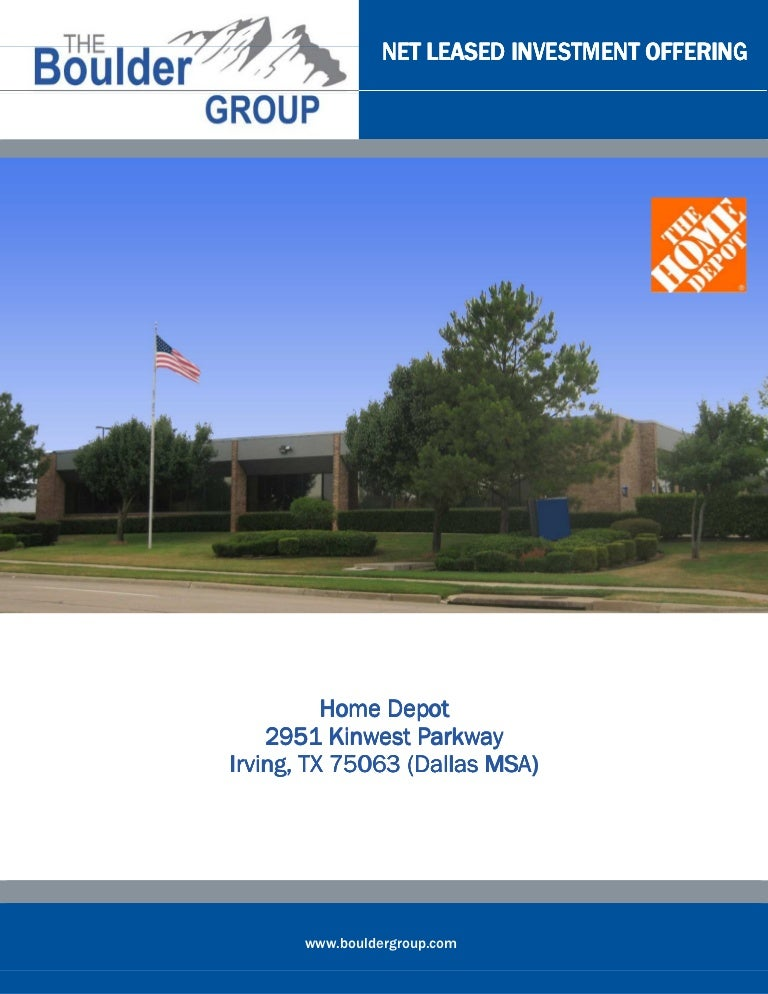 Net Leased Home Depot For Sale