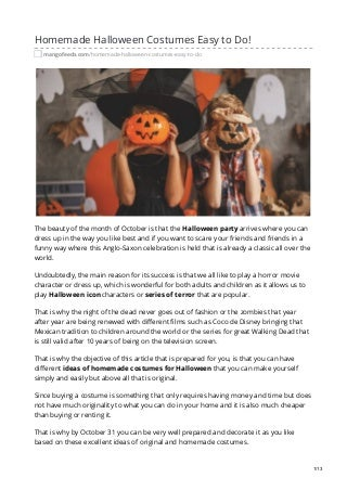 Homemade halloween costumes easy to do