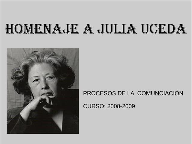 Homenaje a Julia Uceda