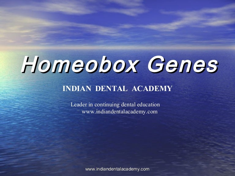 Homeobox genes (2) /certified fixed orthodontic courses by Indian den…