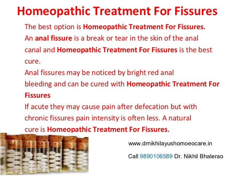 Anal cure fissures home